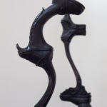 Leslie Fry. Details of Totter and Family Tree sculptures.